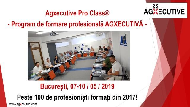 COMUNICAT DE LANSARE Agxecutive Pro Class®